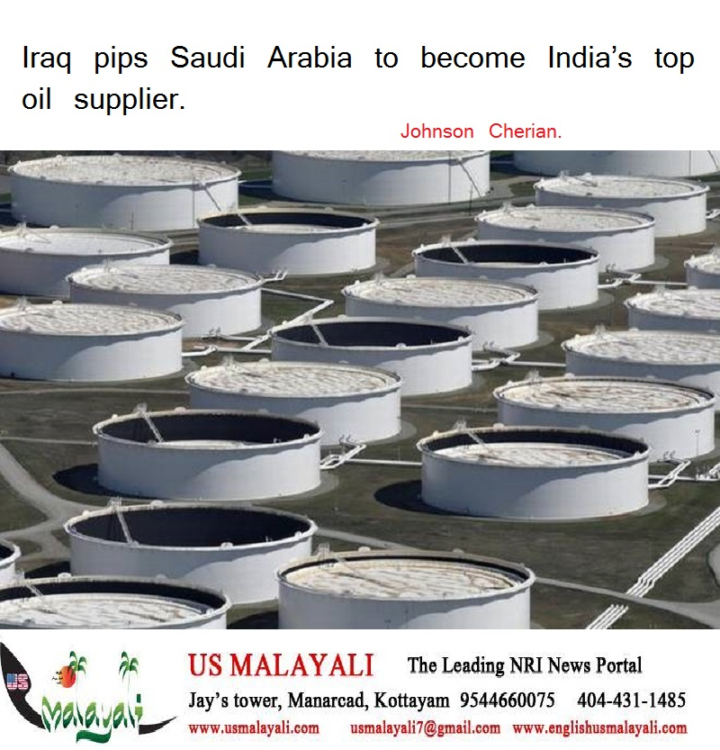 Iraq pips Saudi Arabia to become India's top oil supplier  | US